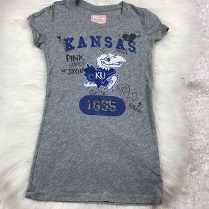 VS Pink University of Kansas KU Jayhawks Tee